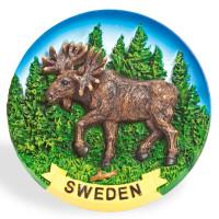 10090-Tallrik-Älg-Sweden