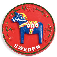 19094-Magnet-Rund-Dalahäst-Blå